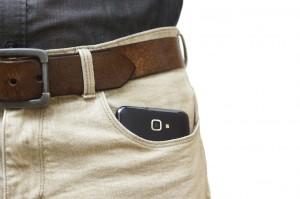 mobile phone in pocket